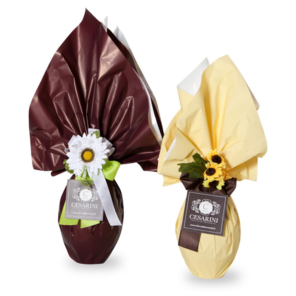 Uova cioccolato artigianale al latte o fondente Cesarini