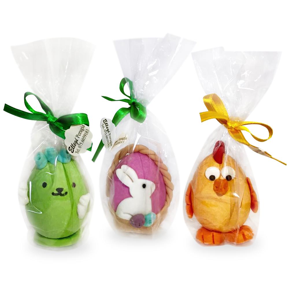 Ovetto di Pasqua in pasta di zucchero a forma di animali