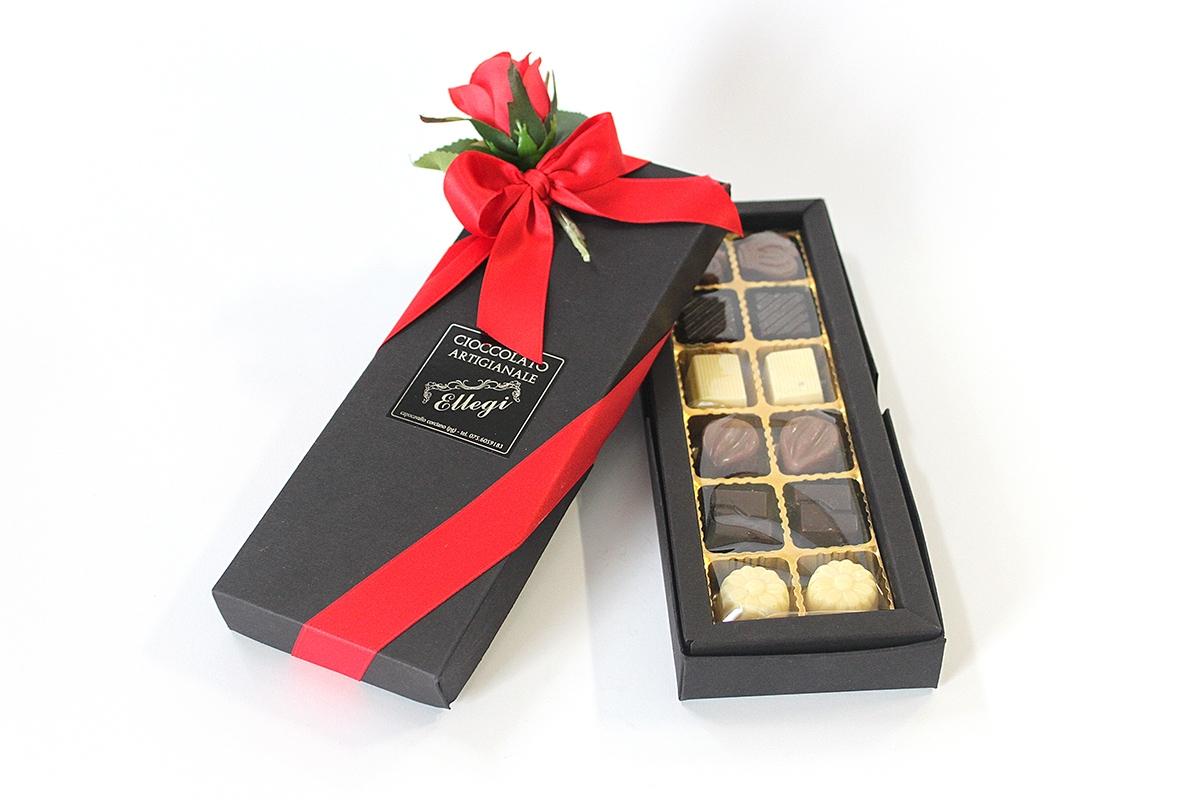 Confezione regalo San Valentino cioccolatini artigianali