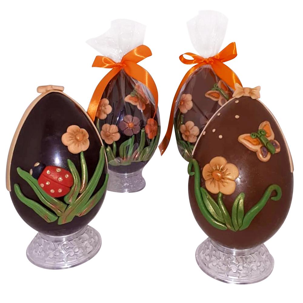 Uova di Cioccolato stile statuine Thun artigianali