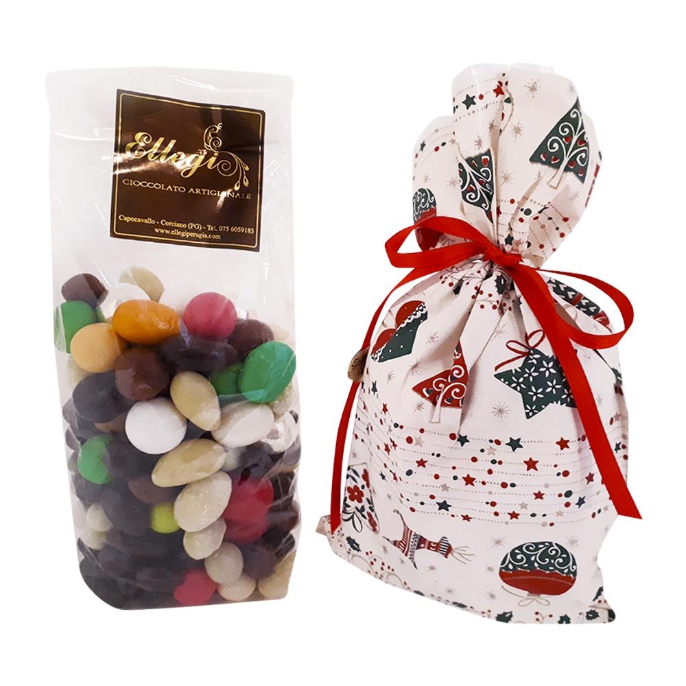Dragèes cioccolato artigianale confezione Natalizia 500 gr