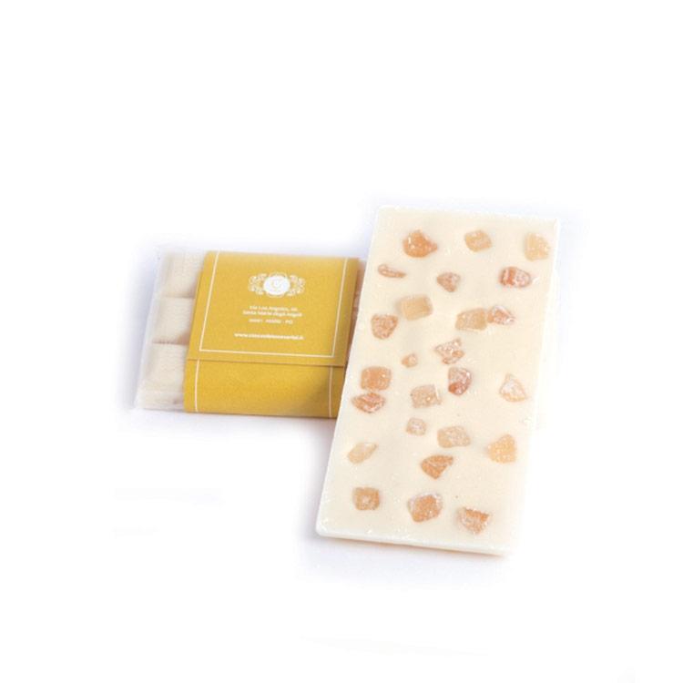 Tavoletta di cioccolato all'arancia gr.100 bianco, latte o fondente