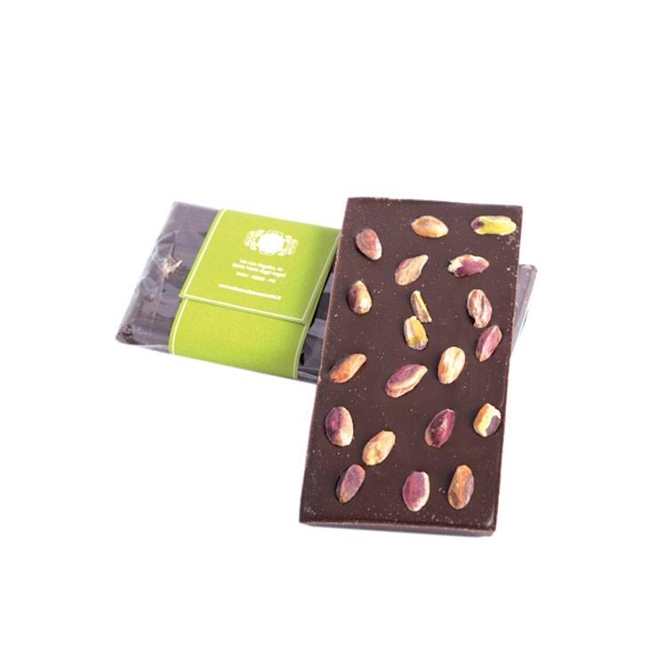 Tavoletta artigianale Cioccolato con PISTACCHIO gr.100
