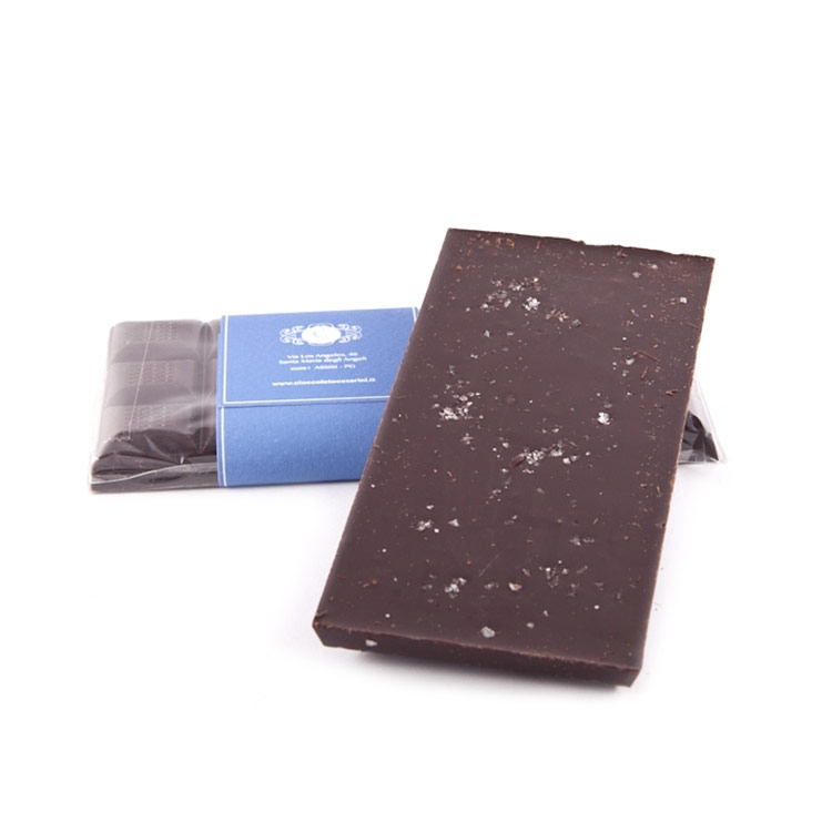 Tavoletta cioccolato fondente con sale gr.100