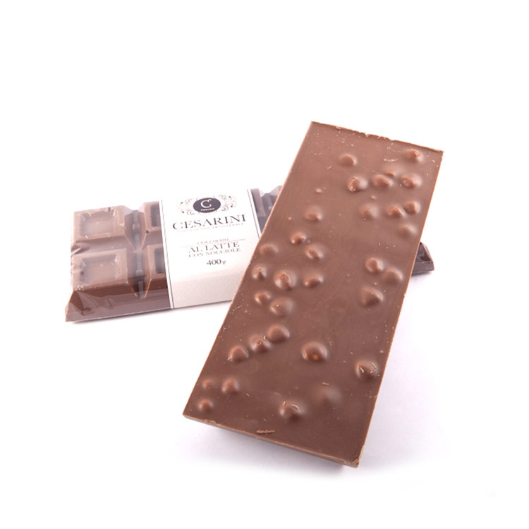 Cioccolato con nocciole ARTIGIANALE fondente o al latte 100 gr