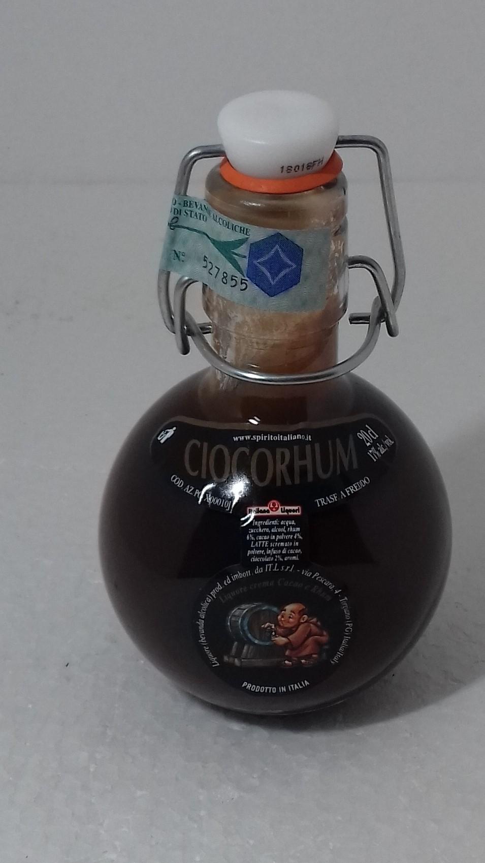 bottiglia liquore al cioccolato 20 ml