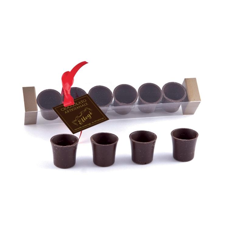 Bicchierini al cioccolato fondente artigianale