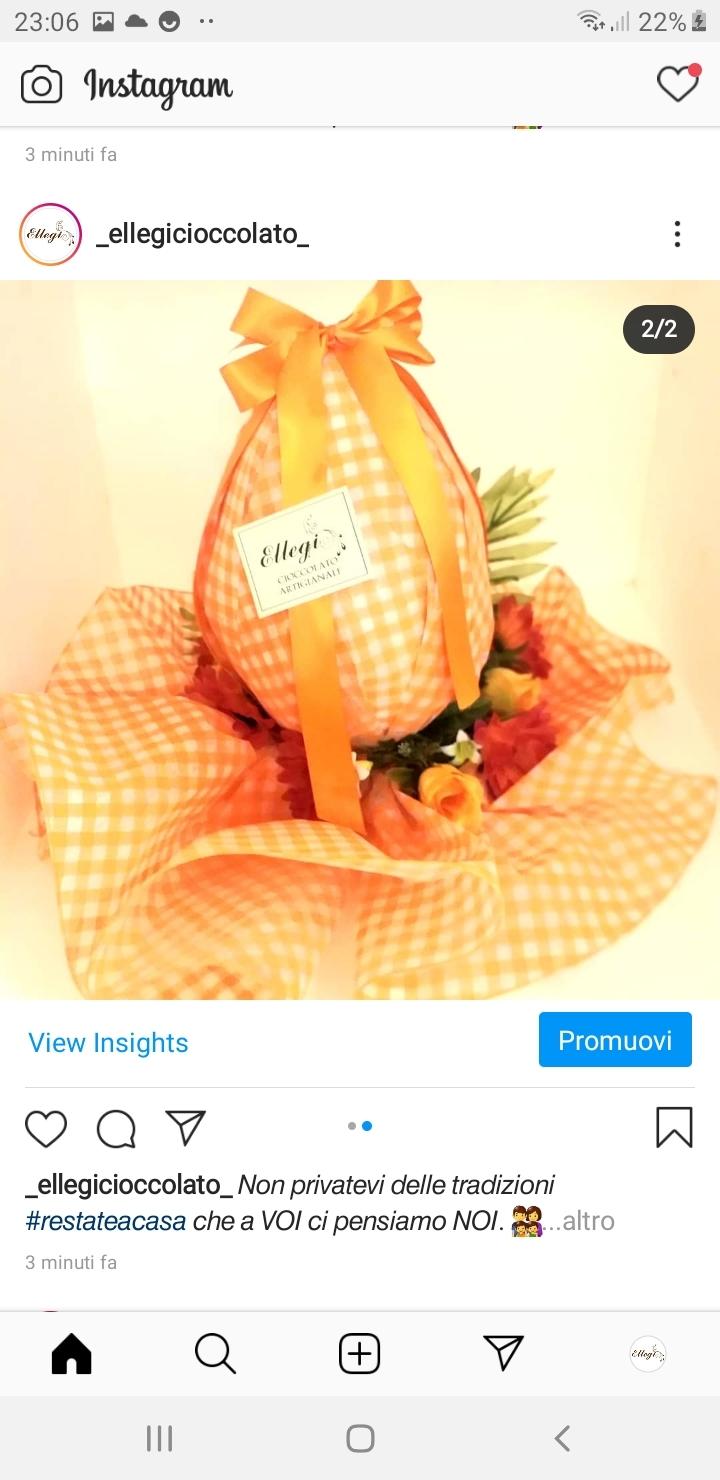 Uovo cioccolato latte gr.500 con incarto particolare e fiori